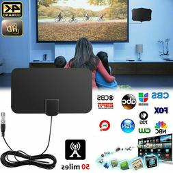 120-mile HD Indoor Digital TV Antenna with  Signal Booster A