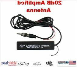 20 dB 12V TV/AM-FM Audio Amplified Antenna--Built-in Booster