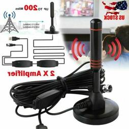 200-mile HD Indoor Digital TV Antenna with 2 Signal Booster