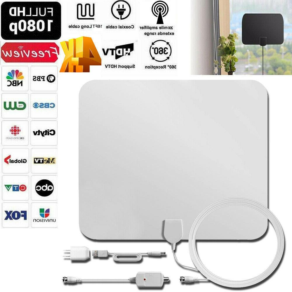 200 Mile HDTV Indoor Antenna HD TV Signal Cable