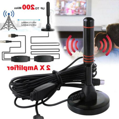 300 Mile HDTV Aerial HD Digital Signal Booster Cable