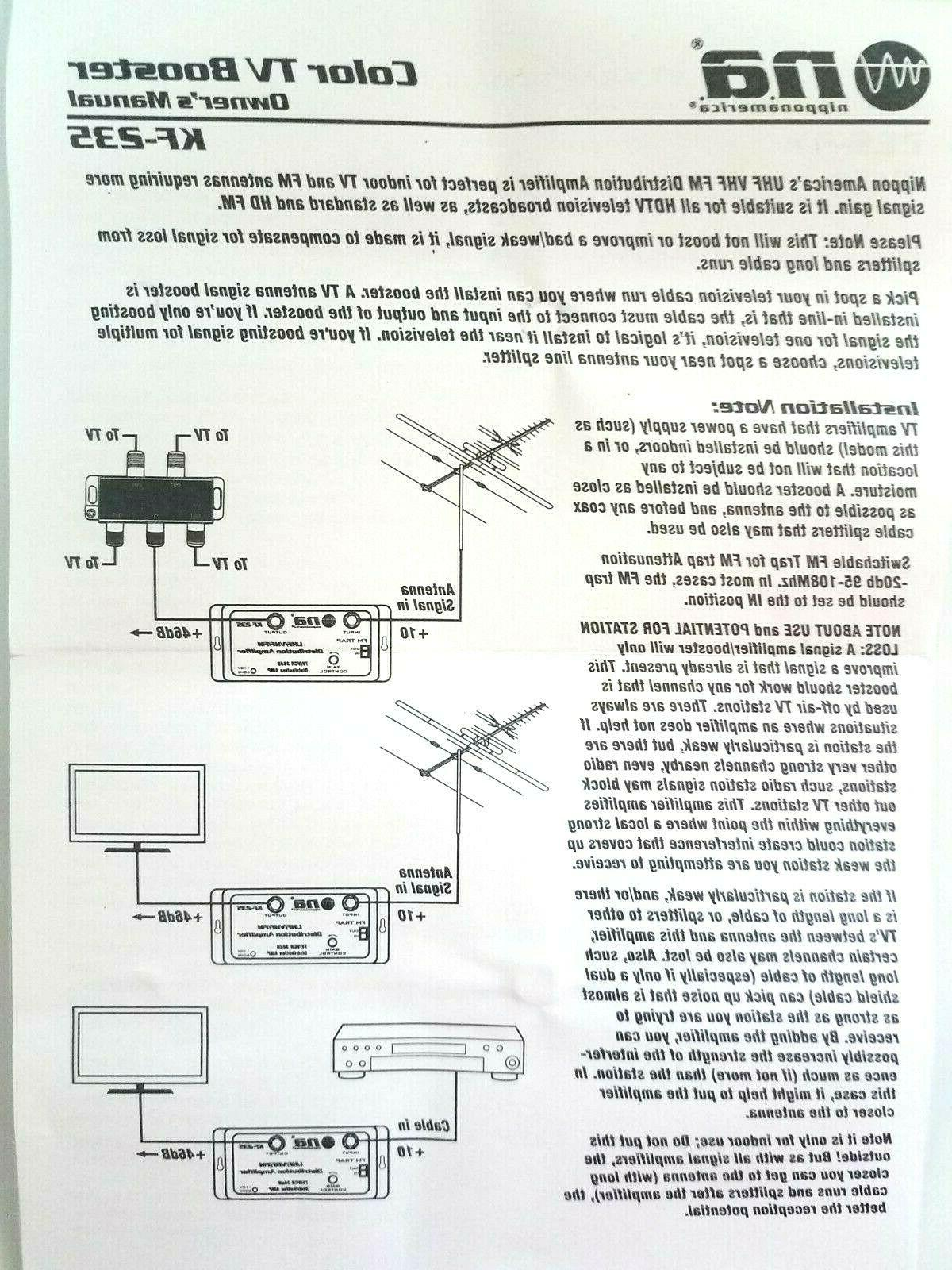 CABLE ANTENNA SIGNAL AMPLIFIER AMP