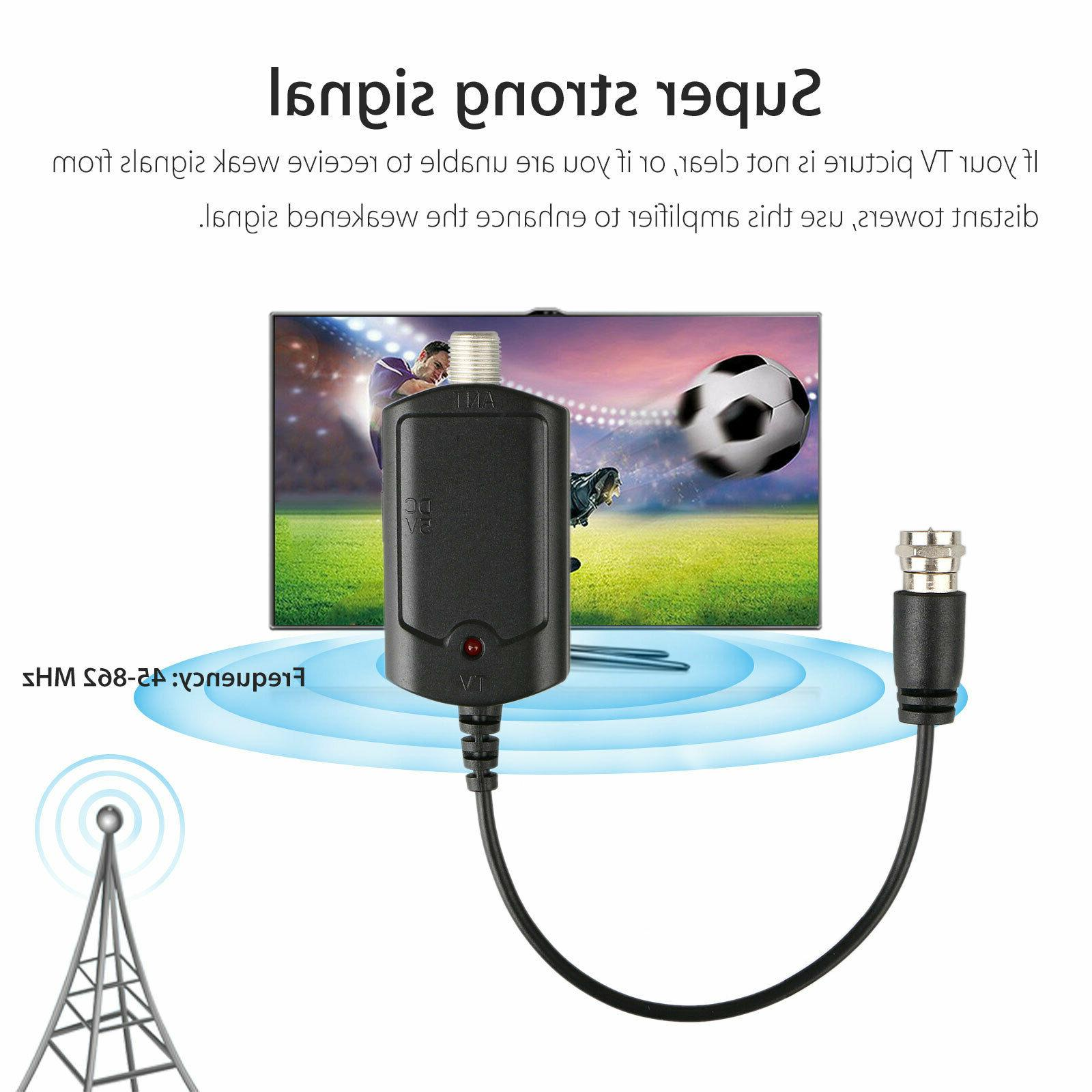 HDTV Antenna Amplifier Signal Booster TV High Channel Indoor UHF