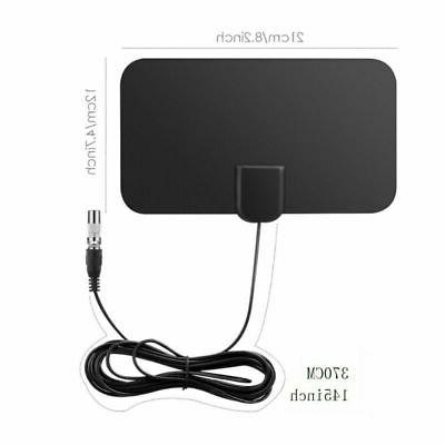 HDTV Antenna Indoor Aerial HD Signal Amplified Thin Mile