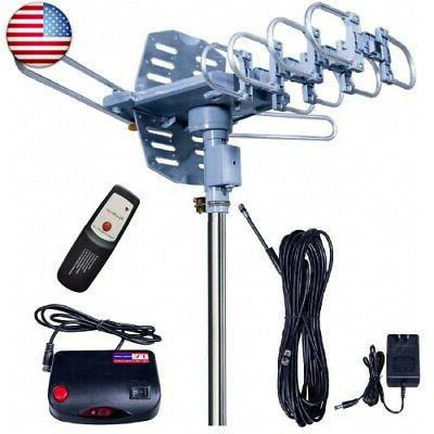 updated 150 miles amplified outdoor tv antenna