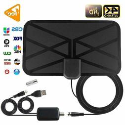 New 980 Miles Indoor HD Digital TV Antenna with Amplifier Si