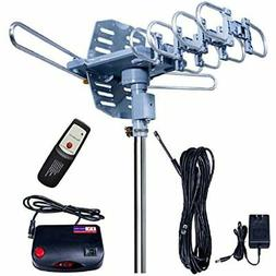 Updated150 Miles-Amplified Outdoor TV Antenna-4K/1080p High